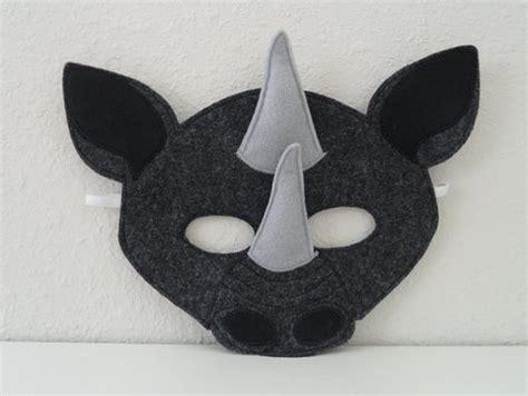 printable rhino mask felt masks and rhinos on pinterest