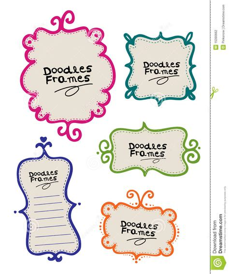 doodle free text doodle frames stock vector image of decorative frame