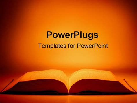 an open book in powerpoint
