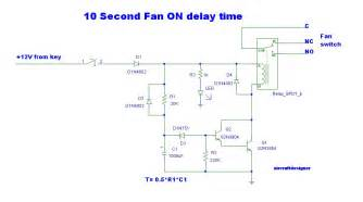 10 second delay timer circuit by transistor eleccircuit