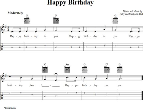happy birthday guitar mp3 download happy birthday chords sheet music and tab for guitar