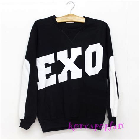 Sweater Hoodie Jaket Exo Exo Miracles In December Xiumin Luhan Sehun Kris Black