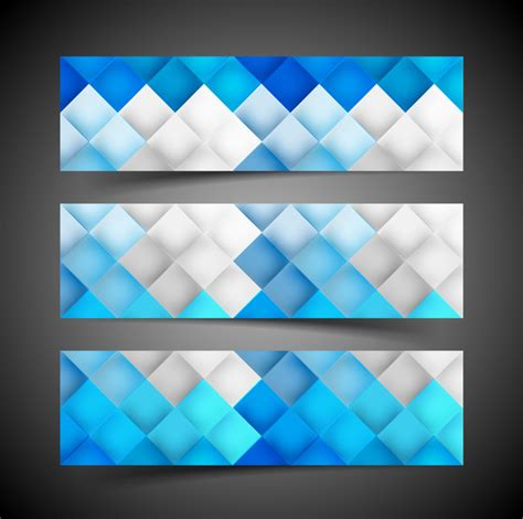header design patterns beautiful three header set for geometric seamless pattern