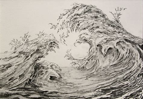 how to draw doodle waves wave drawings des wiles artist
