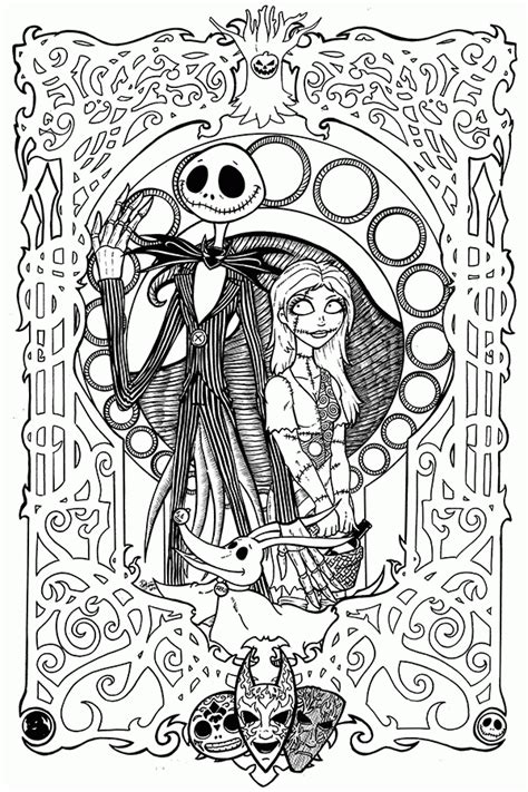 coloring book album free nightmare before nouveau coloring page