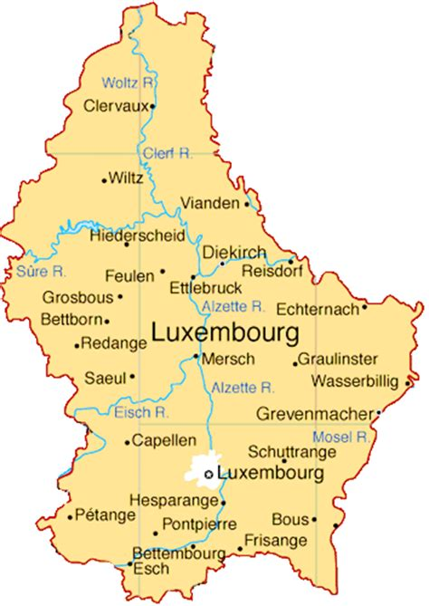 luxembourg map luxembourg germany map