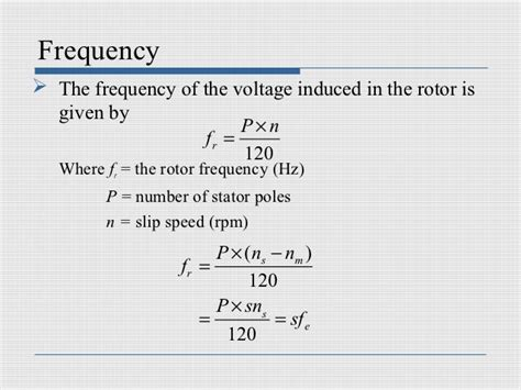 induction motor rotor current frequency induction machines