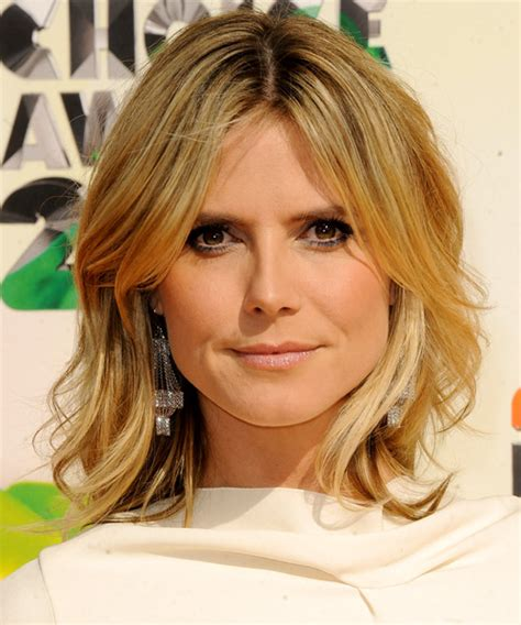 medium haircuts heidi klum heidi klum medium casual hairstyle medium golden