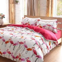 Bed Sheets King Size Cotton Aliexpress Buy Luxury Flamingo Bird Bedding Set