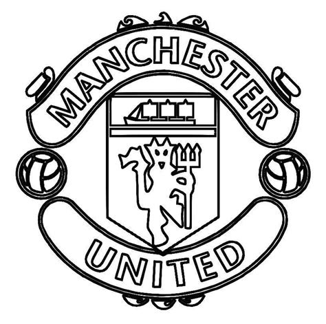 coloring pages of football logos of teams print manchester united logo soccer coloring pages or