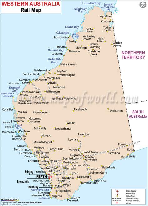 western australia rail map