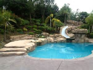 Backyard Makeover With Pool Backyard Makeover Mediterranean Pool Los Angeles By Creation Builders Inc
