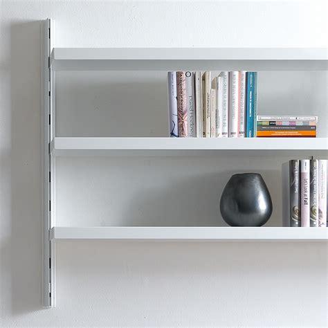 scaffali a muro scaffale a muro melker in alluminio e acciaio bianco 165 x