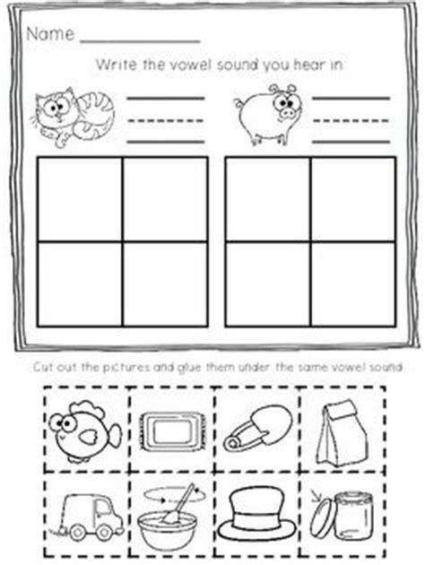 short vowel printables kindergartenklubcom vowel worksheets short vowels cut paste