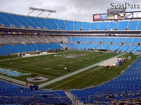 bank of america stadium view from seat bank of america stadium section 224 rateyourseats