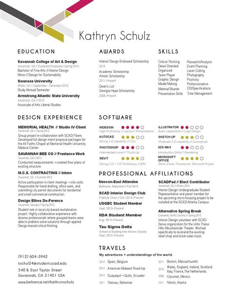 resume sles for interior designers kathryn schulz interior design resume portfolio 2014