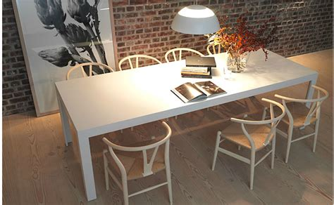 bulthaup tisch bulthaup c2 table in solid white laminate with hans