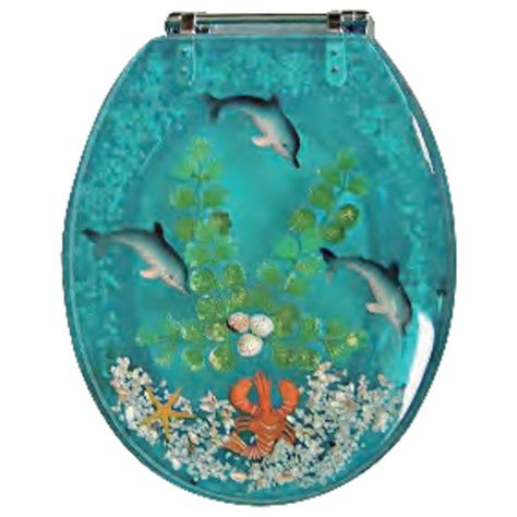 Decorative Elongated Toilet Seats decorative toilet seat dolphins amp lobster design