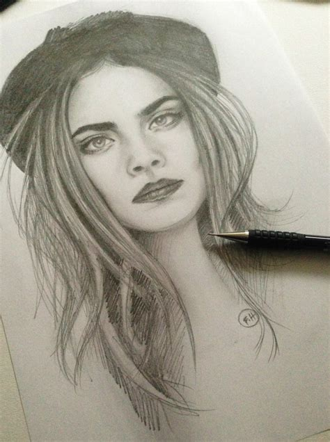 Cara Delevingne Pencil Sketch By Farooky On Deviantart