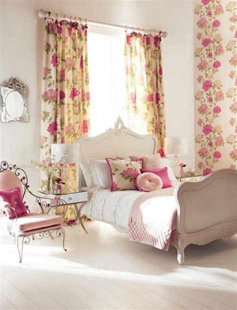 floral bedroom curtains pink floral bedroom ideas