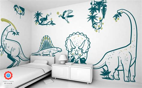 dinosaur bedroom wall stickers giant dinosaur wall stickers diplodocus for boys bedroom