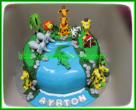 Set Ultah Tema Jungle cake jungle ayrton jual kue ulang tahun