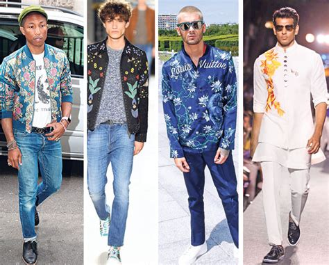 Baju Tema Denim flower power floral prints for the metrosexual fashion and trends hindustan times