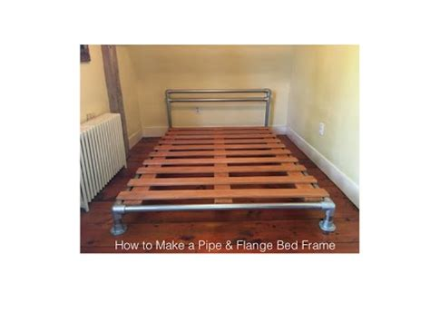 pipe bed frame how to make a pipe flange bed frame