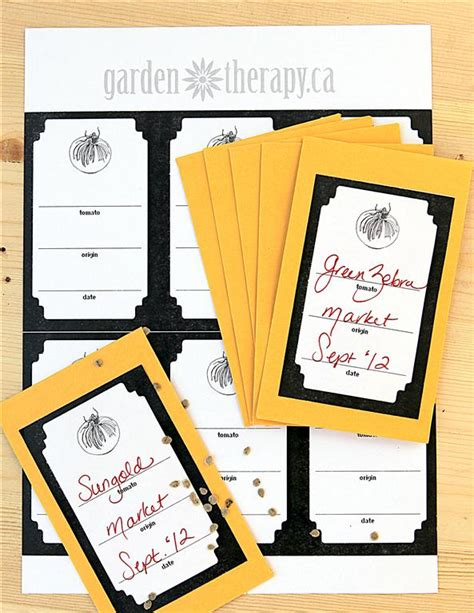 free printable envelope labels tomato seed envelopes and free printable label garden