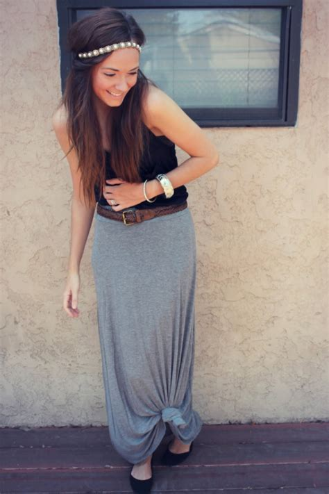 knotted maxi skirt and hippie headband did what
