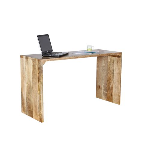 Mango Wood Desk by Cassia Sleek Mango Wood Writing Desk By Mudra