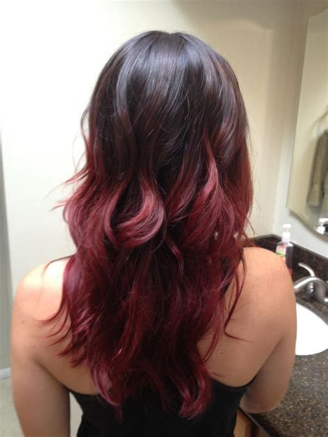 red ombre hair my red ombre hair my style pinterest her hair
