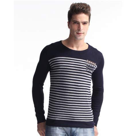 Tas Fashion 1233 jual sweater rajut pria motif garis
