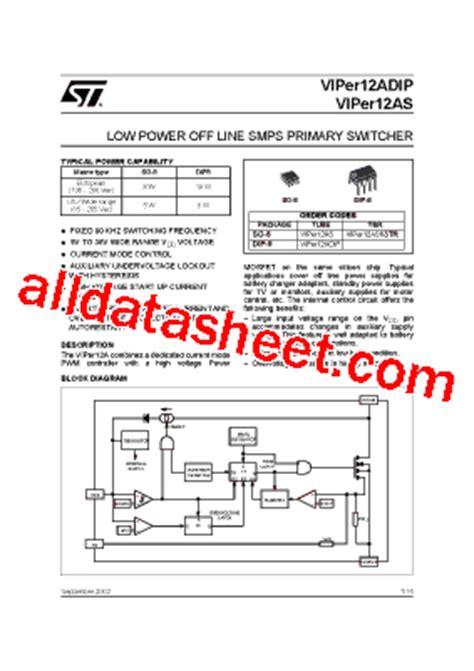 viper12a datasheet pdf stmicroelectronics