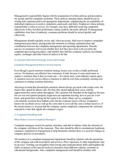 Complaint Letter About Store Manager Customer Complaints Management System
