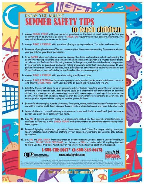 summertime health safety tips images  pinterest safety tips summertime  health