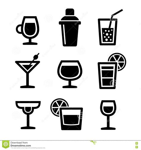 cocktail icon vector cocktail icons set stock vector image 45154390