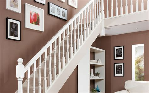 White Stair Handrail White Primed Spindles Stair Parts Jackson Woodturners