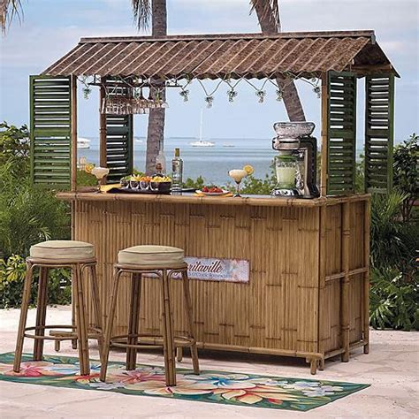 margaritaville tiki bar bar stools sold separately