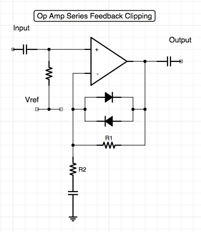 clipping diodes in series op distortion and overdrive topologies www davidmorrin