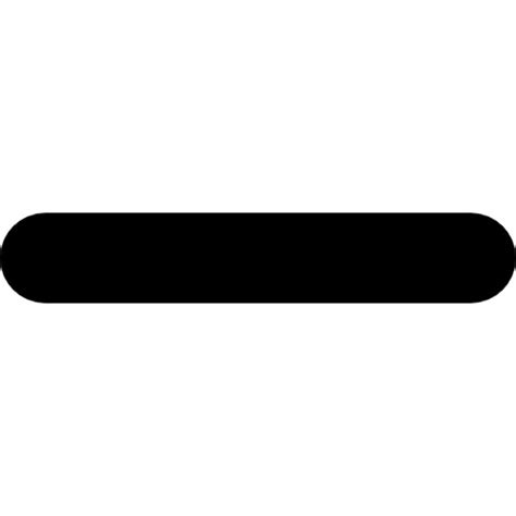 minus sign of a line in horizontal position icons free