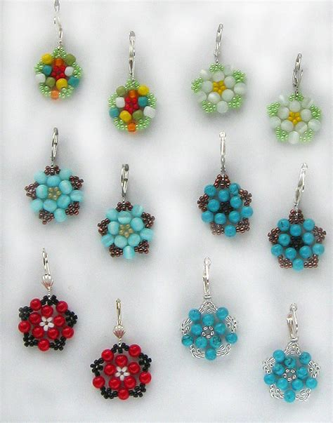 beaded flower earring patterns free seed bead earring patterns black cat beaded