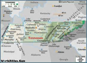 A Map Of Tennessee by Geography Of Tennessee World Atlas