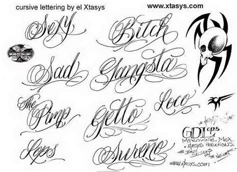 tattoo alphabet design cursive letter designs design your own writing