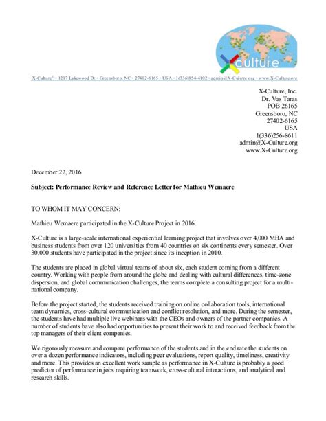 Recommendation Letter For Certification Recommendation Letter Certificate From X Culture Wemaere