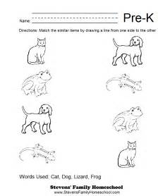 pre k matching worksheets quotes