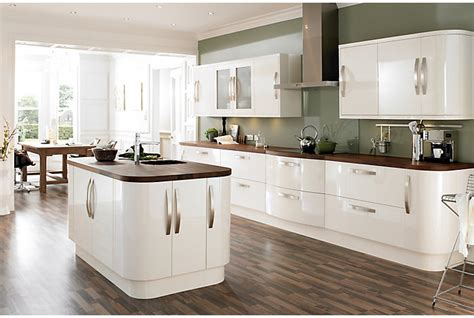 cooke and lewis kitchen cabinets cooke lewis high gloss cream kitchen ranges kitchen