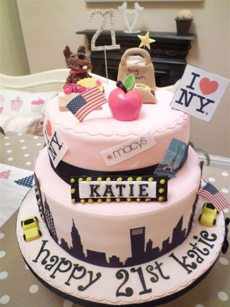 New York Themed Cake Decorations by Various New York Images On Edible Icing Toppers Or Ribbon