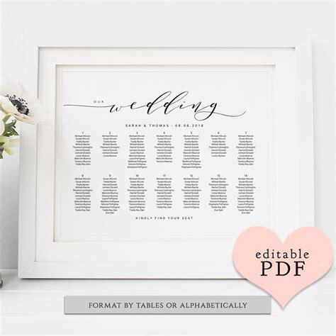 aquariusds wedding seating chart template wedding seating chart