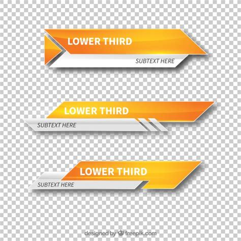 lower third templates modern lower third templates vector free